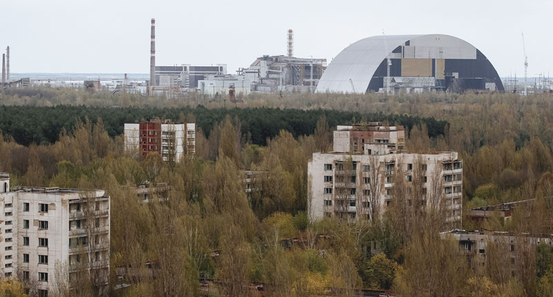 Biolodzy z USA i Francji od lat badają strefę zamkniętą wokół Czarnobyla fot. Roman Pilipey/EPA