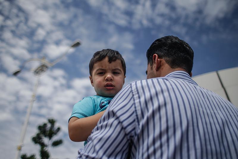 Uchodźcy z Syrii fot.Fazry Ismail/EPA