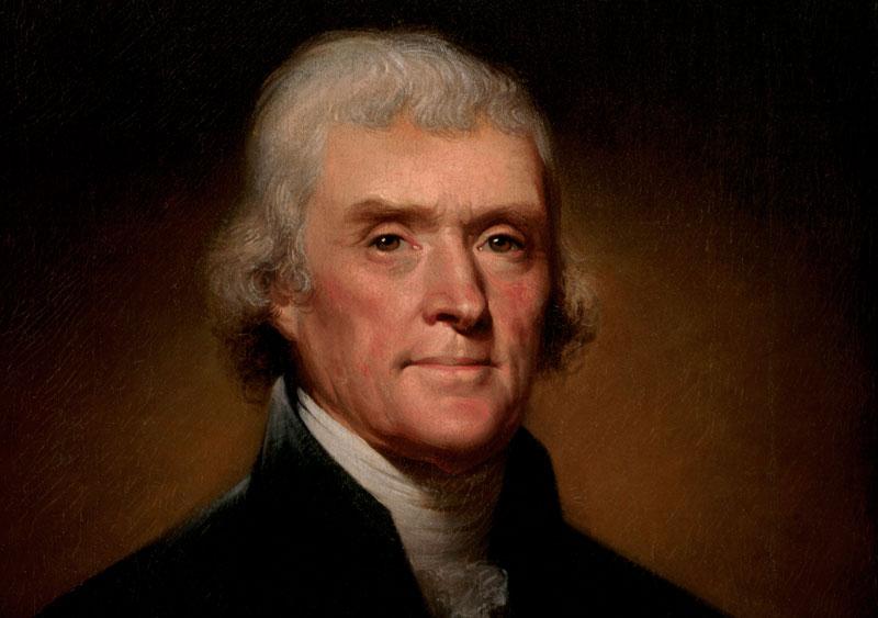 Oficjalny portret Thomasa Jeffersona autorstwa Rembrandta Peale's