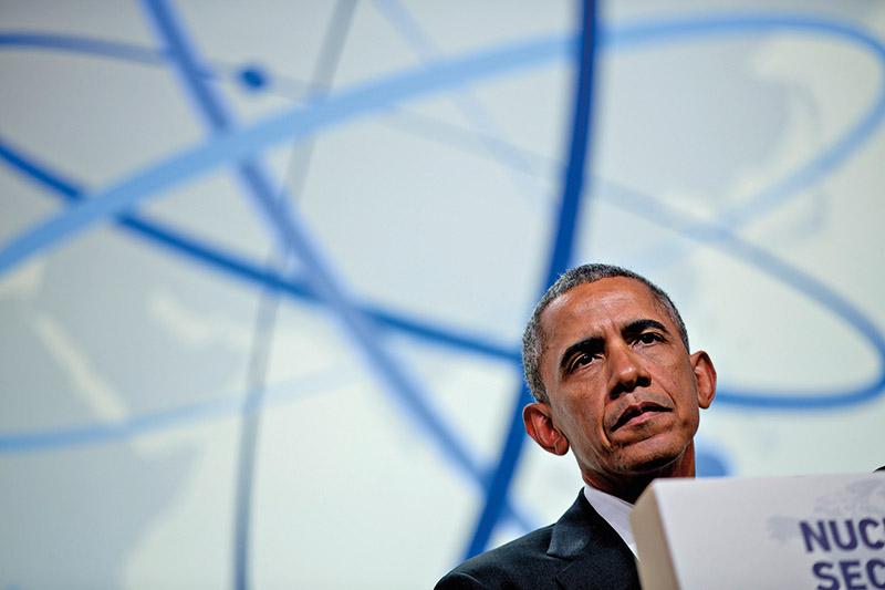 Prezydent Barack Obama fot.Andrew Harrer/Pool/EPA