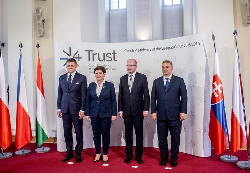 Spotkanie Grupy Wyszechradzkiej fot.Matej Divizna/EPA