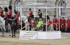 Trooping the Color Queen's 90th birthday parade in London