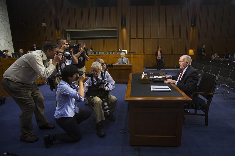 Szef CIA John Brennan w senacie USA fot.Jim Lo Scalzo/EPA