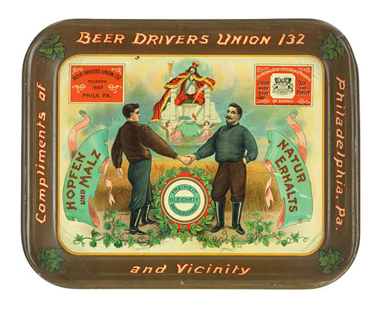 Beer tray, about 1905, National Museum of American History