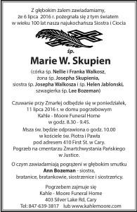 Skupien-Marie-Obit