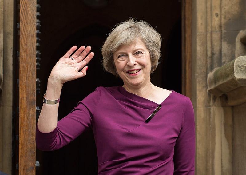 Theresa May fot.Hannah McKay/EPA