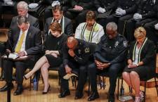 Dallas police shooting interfaith tribute in Dallas, Texas, USA