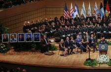 Dallas police shooting interfaith tribute in Dallas, Texas