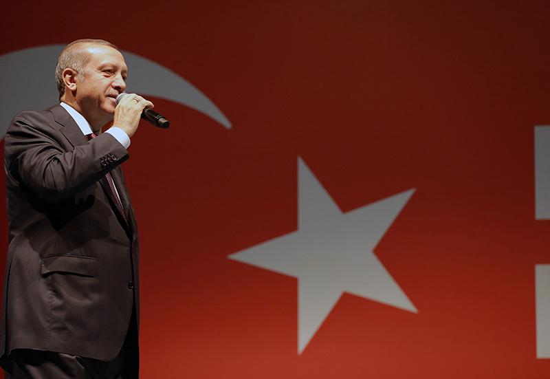 Turecki prezydent Recep Tayyip Erdogan  fot.Turkish Presidential Press Office/Handout/EPA