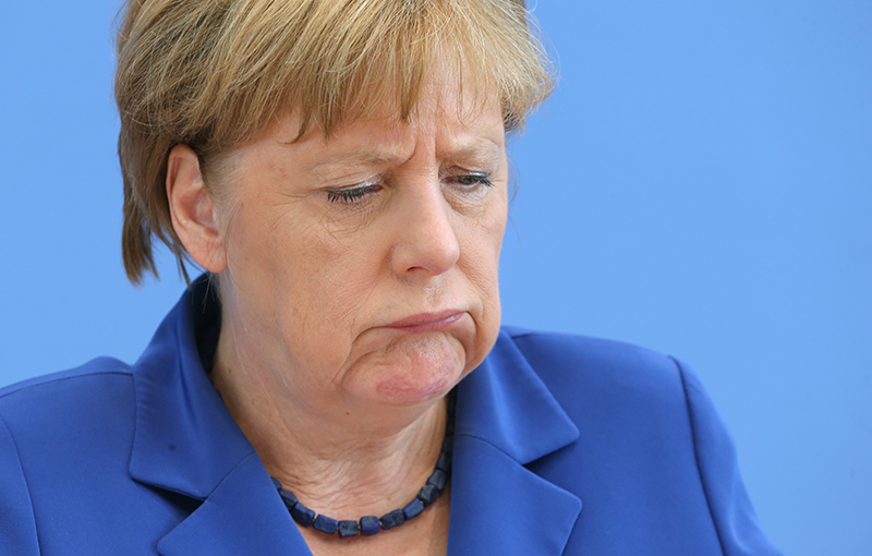 Angela Merkel fot.Wolfgang Kumm/EPA