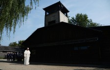 Pope in the former Nazi German concentration camp KL Auschwitz I