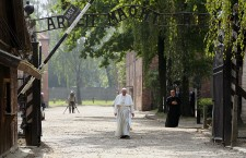 Pope Francis visits the former Nazi German concentration camp KL Auschwitz I