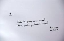 Pope Francis inscription