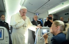 Pope Francis return journey after visiting Poland