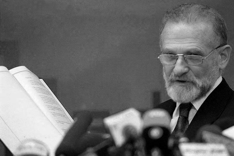 Bronisław Geremek fot.SasaStankovic/EPA