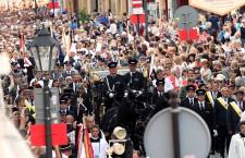 Late cardinal Franciszek Macharskifuneral procession