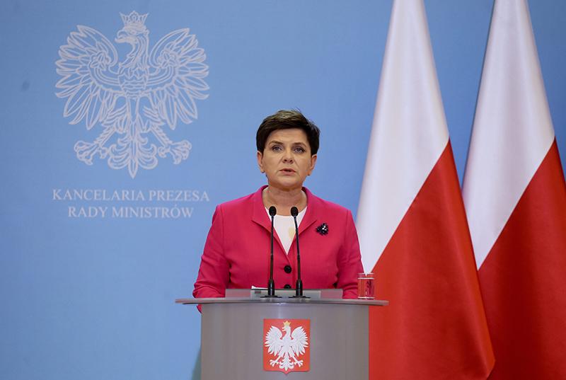 Beata Szydło fot.Paweł Supernak/EPA