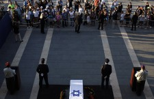 Shimon Peres lying-in-state at the Knesset in Jerusalem