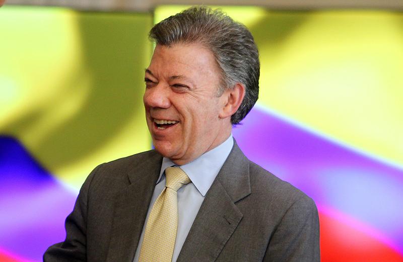 Juan Manuel Santos  fot.Leonardo Munoz/EPA