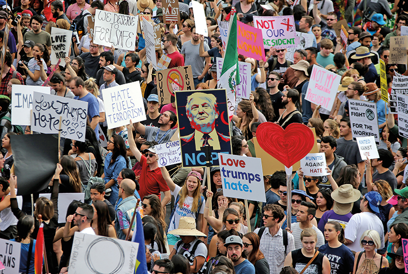 Protest w Los Angeles fot.Mike Nelson/EPA
