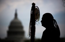Cowboys and Indians Protest Keystone XL Pipeline in DC