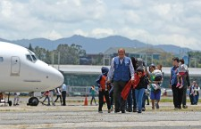PEOPLE DEPORTED FROM USA ARRIVE TO GUATEMALA