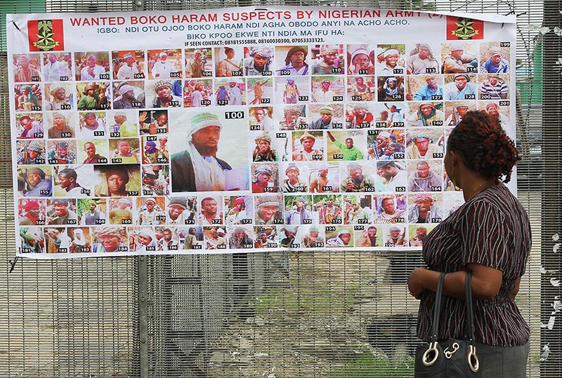 Poszukiwani w Nigerii członkowie Boko Haram fot.Tife Owolabi/EPA