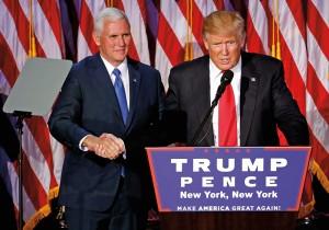 Mike Pence i Donald Trump fot.Shawn Thew/EPA