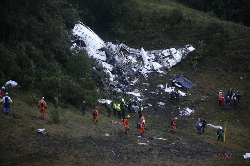 Katastrofa samolotu w Kolumbi fot.Juan Antonio S/Handout/EPA