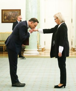 Prezydent Andrzej Duda powołał na stanowisko prezesa Trybunału Konstytucyjnego Julię Przyłębską fot.Paweł Supernak/EPA