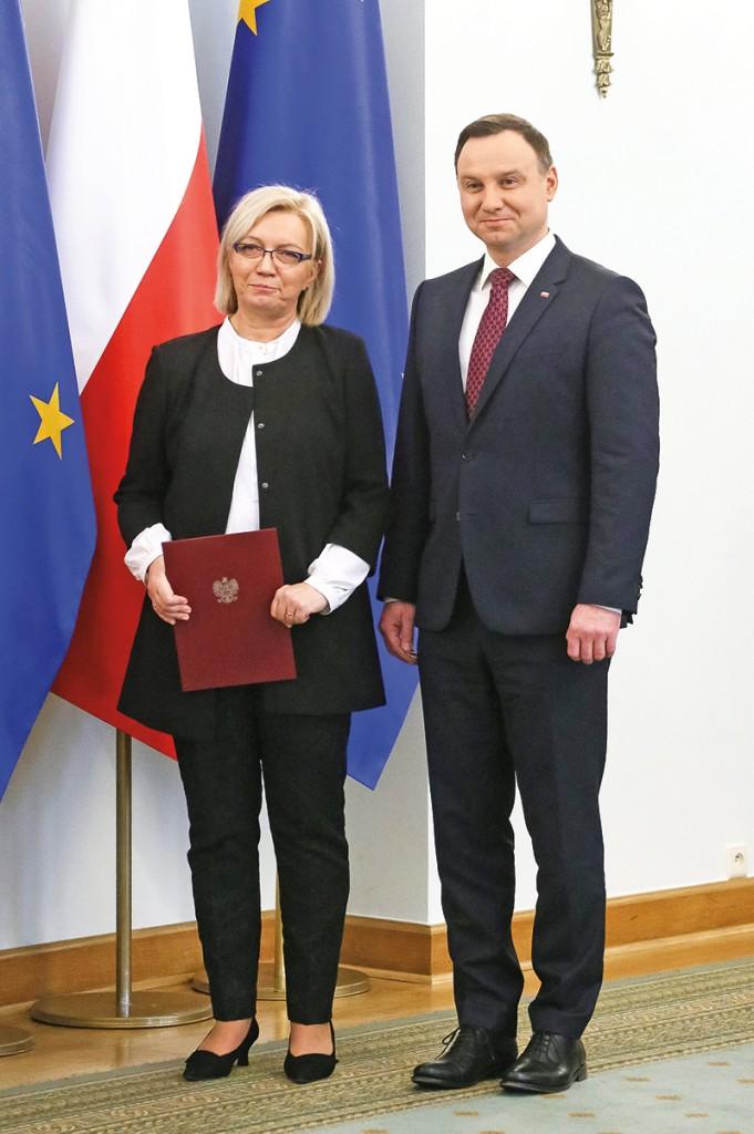 Andrzej Duda i Julia Przyłębska fot.Paweł Supernak/EPA