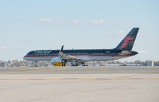 President-elect Trump's motorcade enters Laguardia Airport