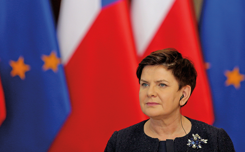 Premier Beata Szydło fot.Andrzej Grygiel/EPA