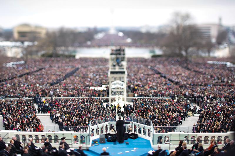 Inauguracja Baracka Obamy, 21 stycznia 2008 r. fot.Jim Lo Scalzo/EPA