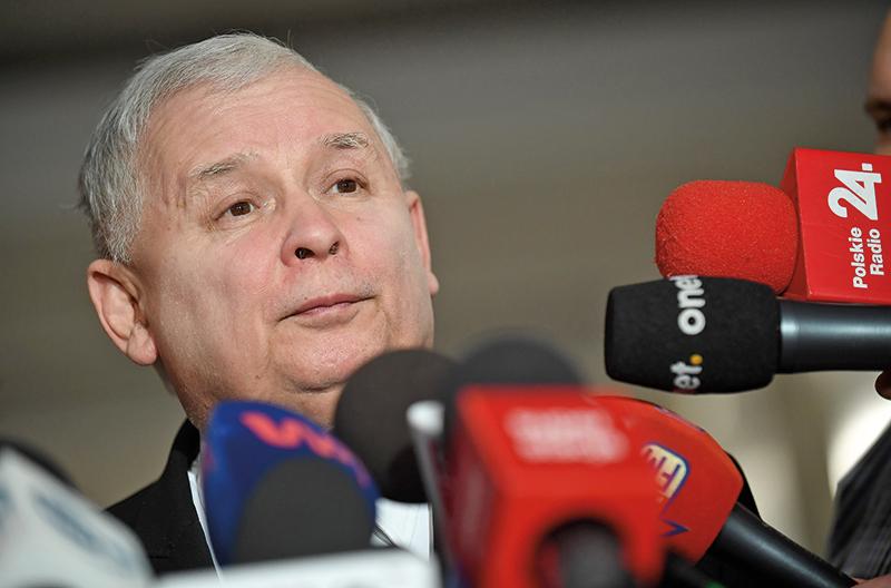 Jarosław Kaczyński fot.Radek Pietruszka/EPA