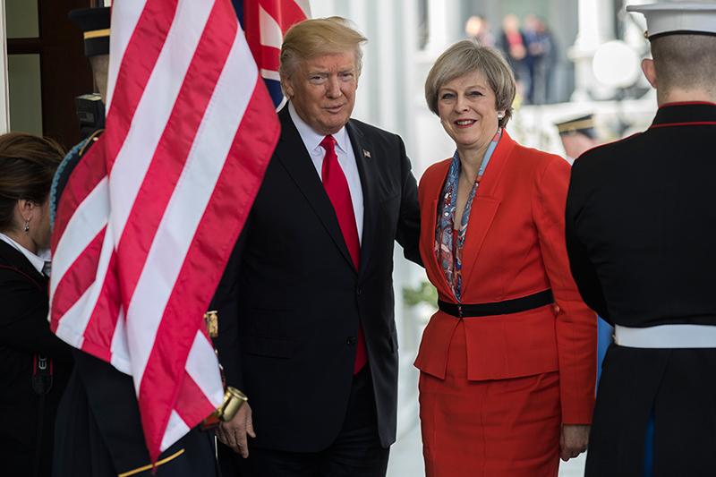 Donald Trump i Theresa May fot.Shawn Thew/EPA