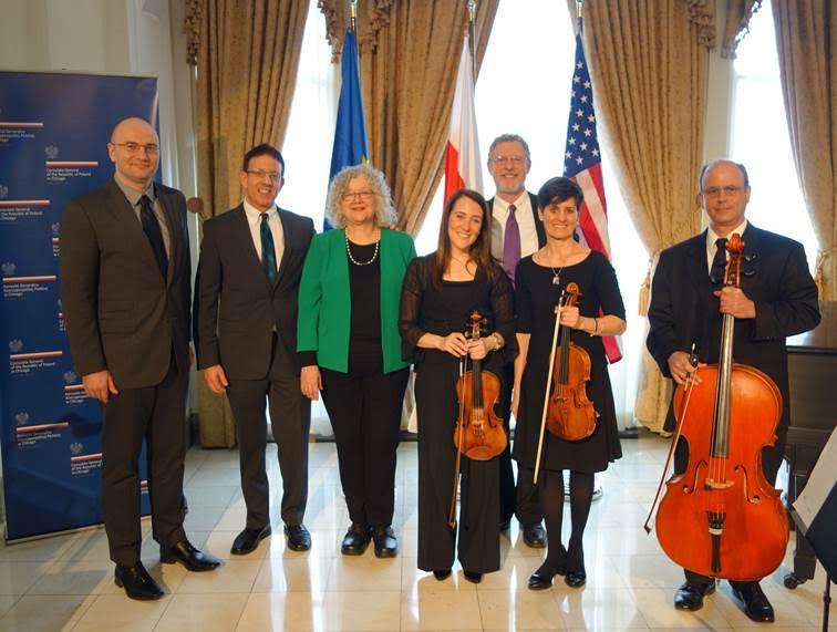 Kwartet Smyczkowy Filharmonii Chicago fot. K.Zieliński, konsulat RP