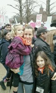 Anna Jakubek z córkami