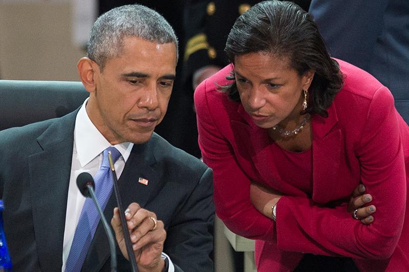 Barack Obama i Susan Rice fot.Michael Reynolds/EPA