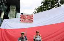 Protest against judicial reform in Warsaw, Warszawa, Poland - 04 Jul 2018