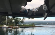 At least 13 injured after lava bomb hits boat tour, Hilo, USA - 16 Jul 2018