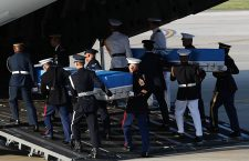UNC and USFK repatriate remains of US war dead at Osan Airbase, Pyeongtaek, Korea - 01 Aug 2018