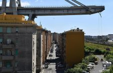 Morandi bridge collapsed on Genoa higway, Italy - 15 Aug 2018
