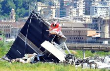 Bridge collapsed on Genoa highway, Italy - 15 Aug 2018