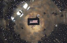 Casket of Senator John McCain laid in state at US Capitol in Washington, USA - 31 Aug 2018