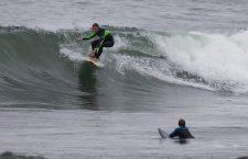 Hurricane Surf off Rhode Island, Newport, USA - 12 Sep 2018