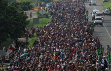 Honduran migrants continue their march to the US border in Mexico, Ciudad Hidalgo - 21 Oct 2018