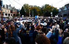 Vigil for victims of synagogue shooting, Pittsburgh, USA - 30 Oct 2018
