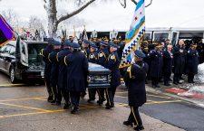Funeral for Chicago Police Officer Samuel Jimenez, Des Plaines, USA - 26 Nov 2018
