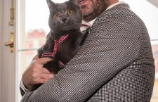 Abandoned cat Wrocek lives with mayor of Wroclaw, Poland - 04 Feb 2019